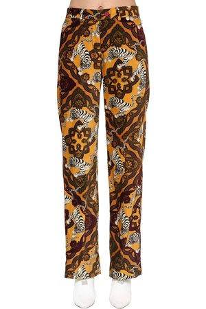 F.R.S For Restless Sleepers Kvinder Bukser - Printed Cotton Velvet Pants