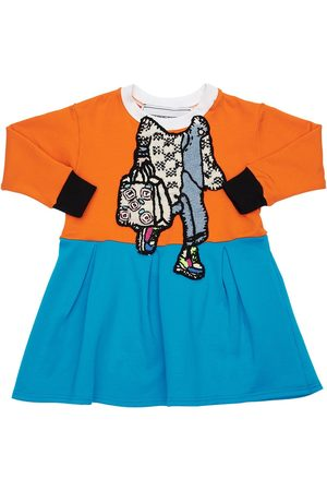 MICHAELA BUERGER Cotton Sweater Dress W/ Knit Patch