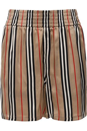 Burberry Marsett Check Printed Silk Twill Shorts