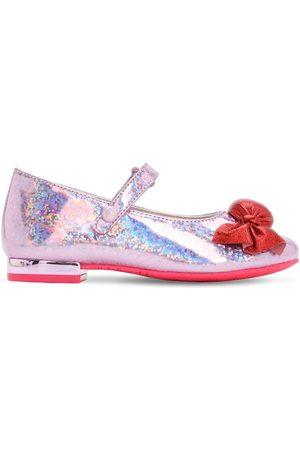 SOPHIA WEBSTER Bonbon Glittered Leather Mary-jane Shoes