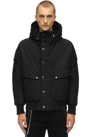 Neil Barrett Hooded Nylon Bomber Jacket