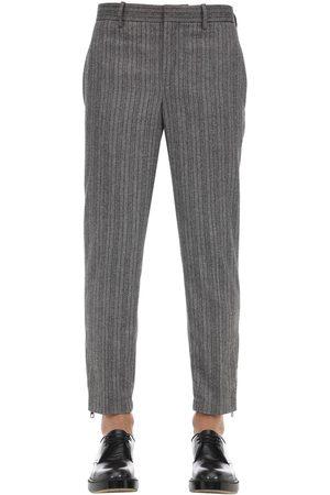 Neil Barrett Wool Blend Jogging Pants W/ Zip Cuffs