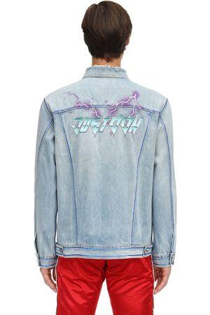 JUST DON Printed Cotton Denim Jacket