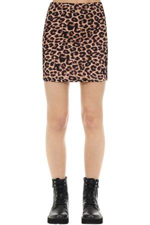 The People Vs Kate Hyaena Print Cotton Mini Skirt