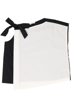 Once Cotton Poplin Top W/bow