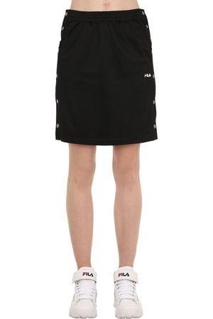 Fila Jenna Cotton Track Skirt W/ Snap Buttons