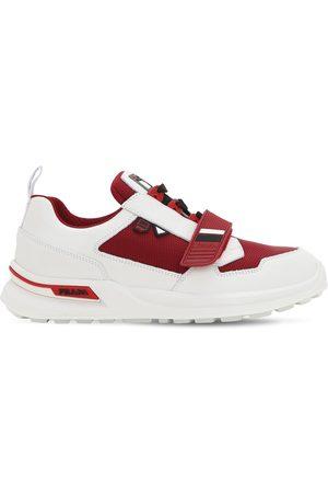 Prada Work Leather & Fabric Sneakers