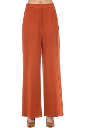 Agnona Wide Leg Wool & Cashmere Pants
