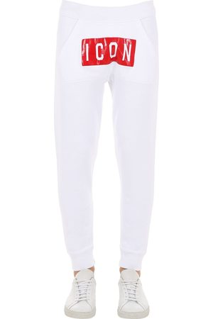 Dsquared2 Icon Print Cotton Jersey Sweatpants