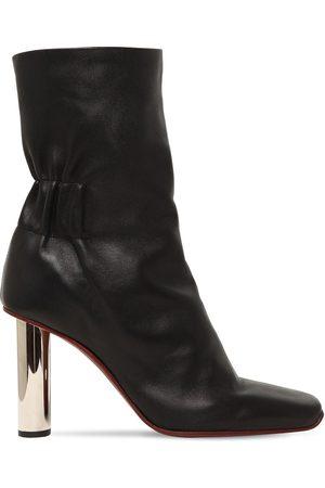 Proenza Schouler 100mm Leather Ankle Boots W/ Metal Heel