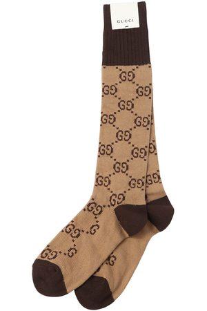 Gucci Gg Supreme Logo Cotton Blend Socks