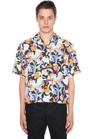 PRADA Pungé Flower Printed Bowling Shirt