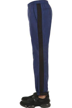 Prada 18cm Light Nylon Pants W/ Logo Strap