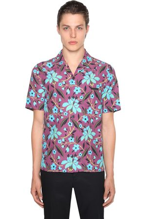 Prada Pungé Floral Printed Bowling Shirt