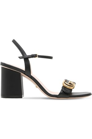 Gucci 75mm Marmont Leather Sandals