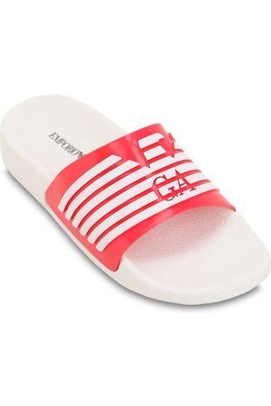 Emporio Armani Logo Printed Rubber Slide Sandals