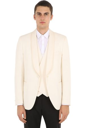 LARDINI Cotton Blend Smoking Jacket
