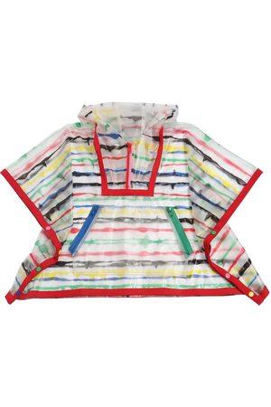 Stella McCartney Stripe Printed Pvc Rain Poncho