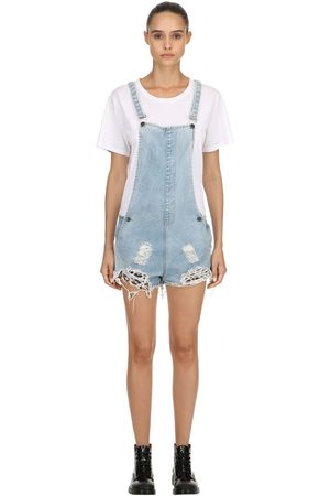 The People Vs Kvinder Overalls - Joan Repatched Destroyed Short Overalls