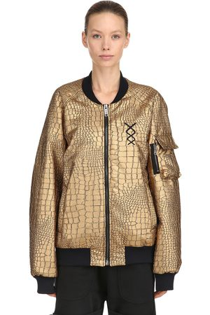 NICOLÒ TONETTO Flux Embossed Faux Leather Bomber