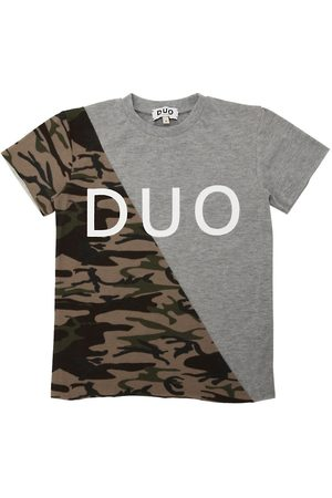 DUO Drenge Kortærmede - Camo Printed Cotton Jersey T-shirt