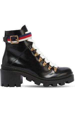 Gucci Kvinder Støvler - 60mm Brushed Leather Boots