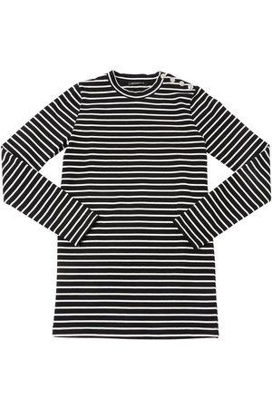 Balmain Striped Cotton Knit Dress