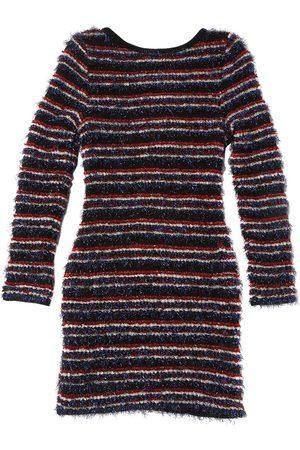 Balmain Striped Knit Dress With Lurex Details