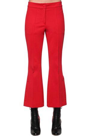 MARCO DE VINCENZO Kvinder Kassebukser - Flared Techno Jersey Cropped Pants