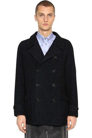 Armani Mænd Frakker - Double Breasted Wool Coat