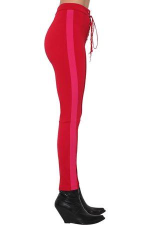 UNRAVEL Kvinder Slim bukser - Band Lace Up Skinny Tech Viscose Pants