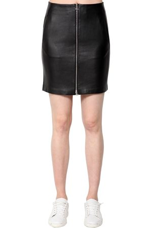 RAG&BONE Heidi Leather Mini Skirt