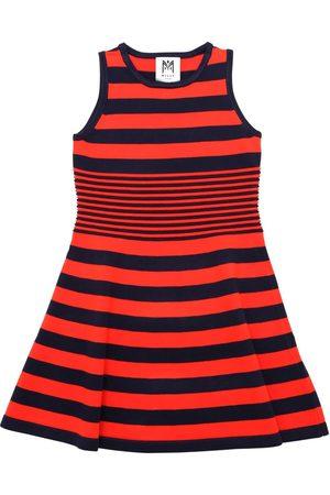 Milly Striped Viscose Blend Knit Ottoman Dress