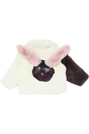 Bandits Rabbit Patchwork Faux Fur Coat