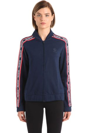 Reebok Cotton Track Jacket With Logo Bands