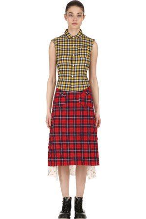 R13 Patchwork Cotton Shirt Midi Dress