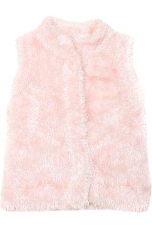 Milly Faux Fur Knit Vest