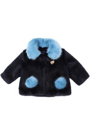 Bandits Two Tone Faux Fur Coat