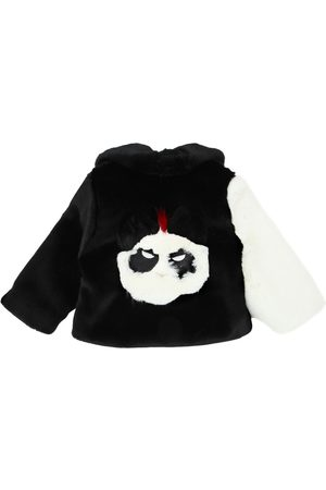 Bandits Panda Patchwork Faux Fur Coat