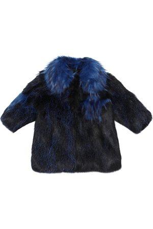 Bandits Stars Patchwork Faux Fur Coat
