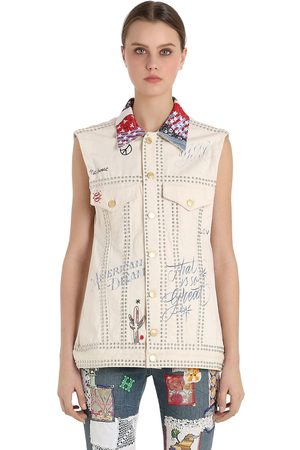 Tommy Hilfiger Kvinder Cowboyjakker - Patchwork Cotton Denim Vest