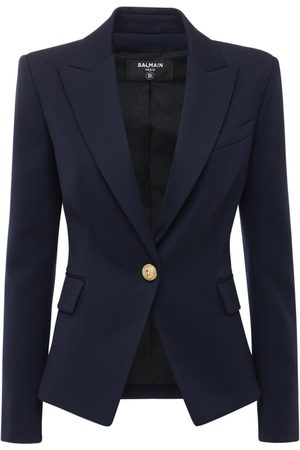 Balmain Single Breasted Cool Wool Blazer