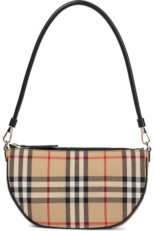 Burberry Olympia Pouch checked shoulder bag