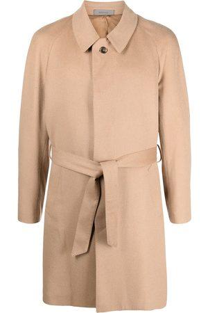 corneliani Tekstureret frakke med bælte