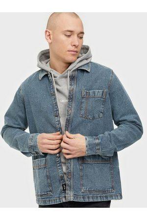 Only & Sons Onsbrian Ls Acid Washed Denim Overs Skjorter Medium Blue Denim