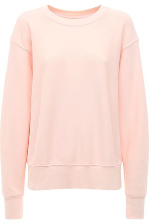 Les Tien Cropped Cotton Sweatshirt