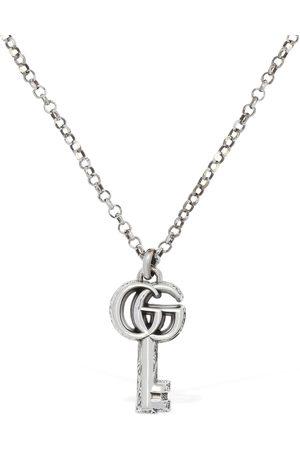 GUCCI 50cm Gg Marmont Key Charm Necklace