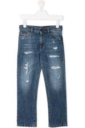 Dolce & Gabbana Jeans med lige ben og slitageeffekt