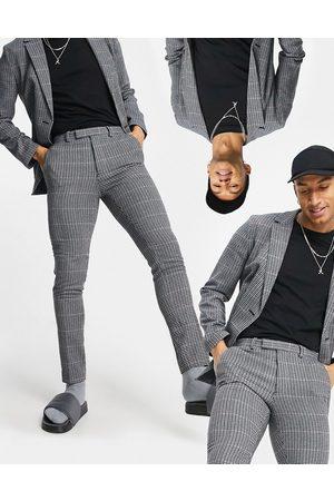 ASOS Bløde, skræddersyede super skinny-bukser i uldblanding med mikrotern