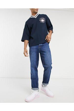 ASOS Lige crop-jeans i dark wash blue